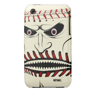 Angry Baseball Ball Character iPhone 3 Case