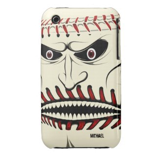 Angry Baseball Ball Character iPhone 3 Case