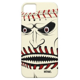 Angry Baseball Ball Character iPhone 5 Case