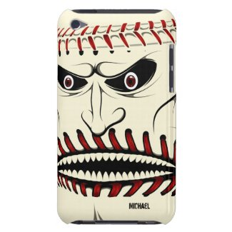 Angry Baseball Ball Character iPod Case iPod Touch Case