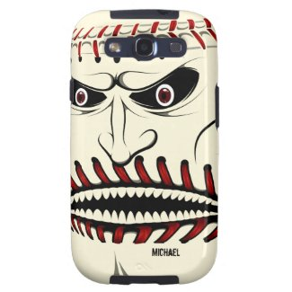 Angry Baseball Ball Character Samsung S3 Case Galaxy SIII Covers