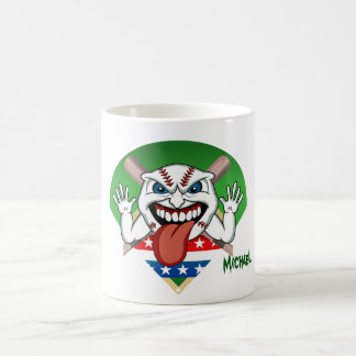Angry Baseball Ball Pitch Bats Mug