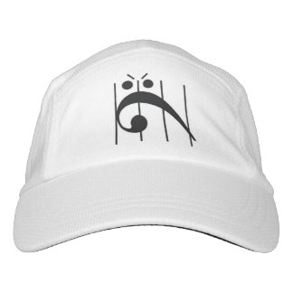 Angry Bass Clef Headsweats Hat