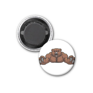 Angry Bear 1 Inch Round Magnet