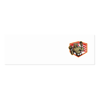 Angry Bear Boxer Boxing Retro Business Cards