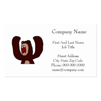 Angry Bear Double-Sided Standard Business Cards (Pack Of 100)