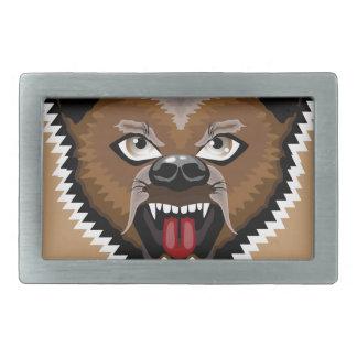 Angry Bear cartoon Belt Buckle