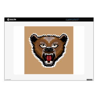 Angry Bear cartoon Decal For Laptop