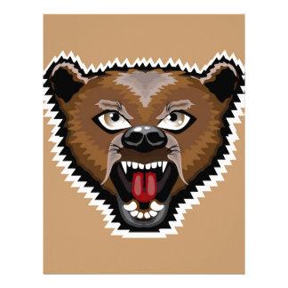 Angry Bear cartoon Letterhead