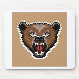 Angry Bear cartoon Mouse Pad