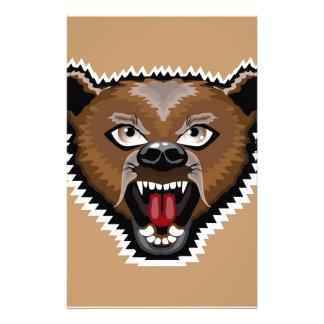 Angry Bear cartoon Stationery