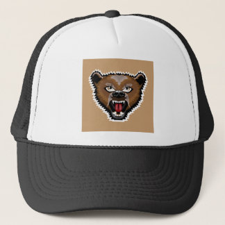 Angry Bear cartoon Trucker Hat