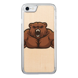 Angry Bear Carved iPhone 7 Case