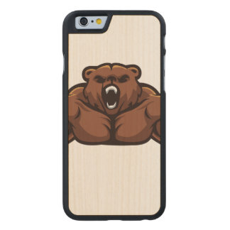 Angry Bear Carved® Maple iPhone 6 Slim Case