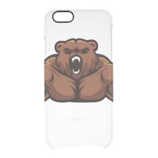 Angry Bear Clear iPhone 6/6S Case