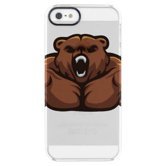 Angry Bear Clear iPhone SE/5/5s Case
