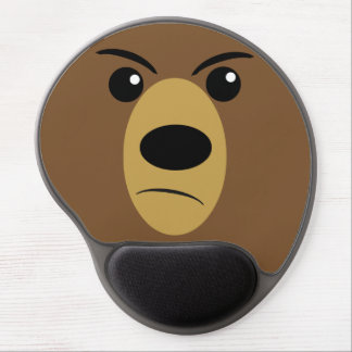 Angry Bear Face Gel Mouse Pad