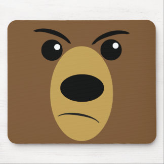 Angry Bear Face Mouse Pad