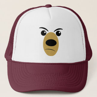 Angry Bear Face Trucker Hat