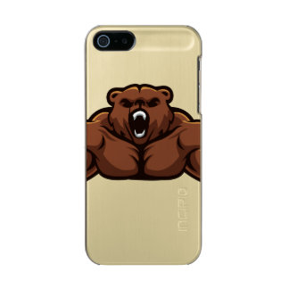 Angry Bear Metallic Phone Case For iPhone SE/5/5s