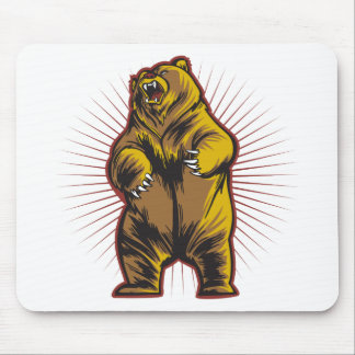 Angry Bear Mouse Pad