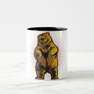 Angry Bear Two-Tone Coffee Mug