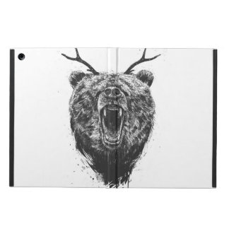 Angry bear with antlers iPad air cover