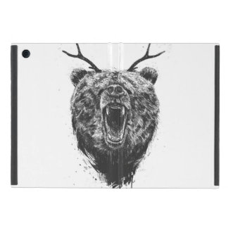 Angry bear with antlers iPad mini case