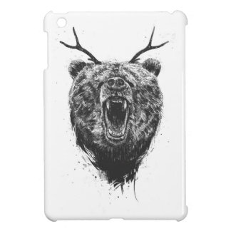 Angry bear with antlers iPad mini covers