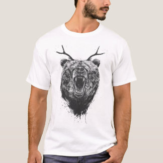 Angry bear with antlers T-Shirt