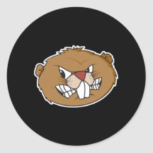 Angry Beaver Themed Set of 20 Assorted Stickers Decal Set