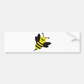 angry bee icon car bumper sticker