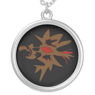 """""""Angry"""" bird Round Pendant Necklace"""