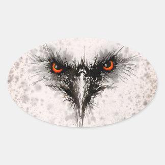 Angry Bird Oval Sticker