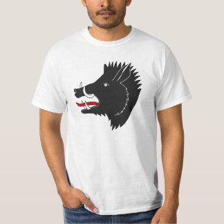 Angry black boar animated shirt