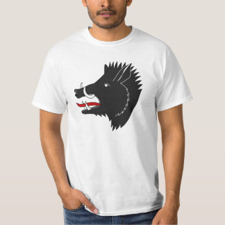 Angry black boar animated T-Shirt