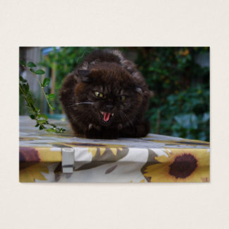 Angry Black Cat Business Card