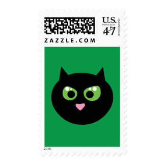 Angry Black Cat Postage