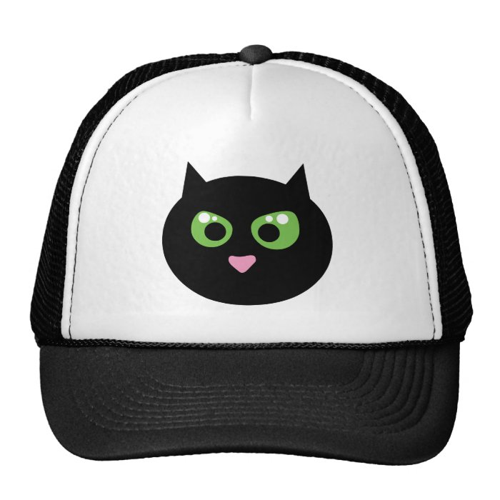 Angry Black Cat Trucker Hat