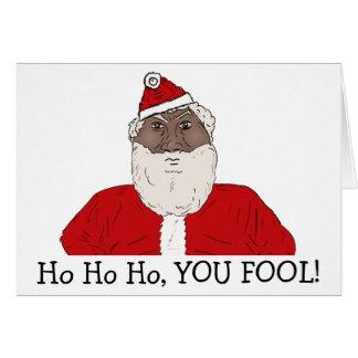 Angry Black Santa Claus, Wishing You an Angry Xmas Card