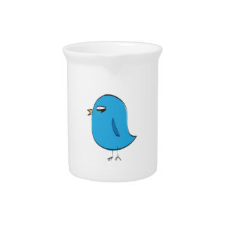 Angry Blue Bird Beverage Pitchers