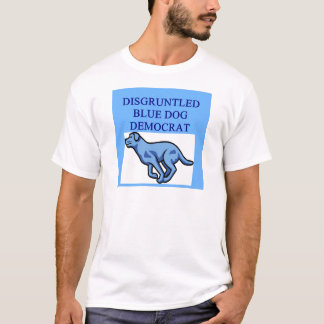 angry blue dog democrat T-Shirt