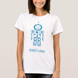 Angry Blue Robot T-Shirt