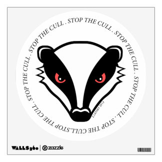 Angry British Badger - Stop The Cull Wall Stickers