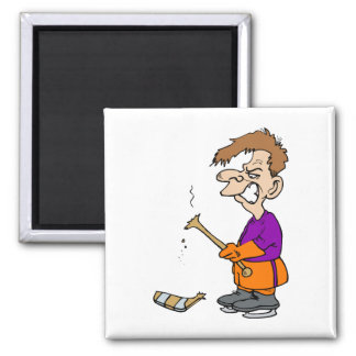 Angry broken stick player magnet