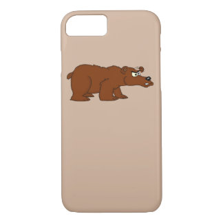 Angry brown bear design iPhone cases