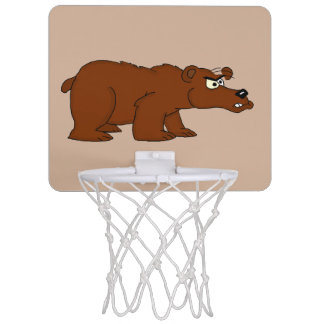 Angry brown bear design mini basketball goal mini basketball hoop