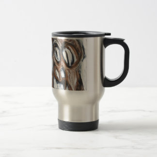 Angry Brown Horse (animal expressionism) Travel Mug