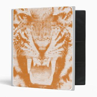 Angry Brown Tiger Horizontal Lines Binder