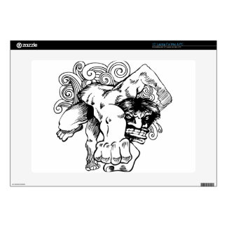 """Angry Brute Monster Man Cartoon Decal For 15"""" Laptop"""